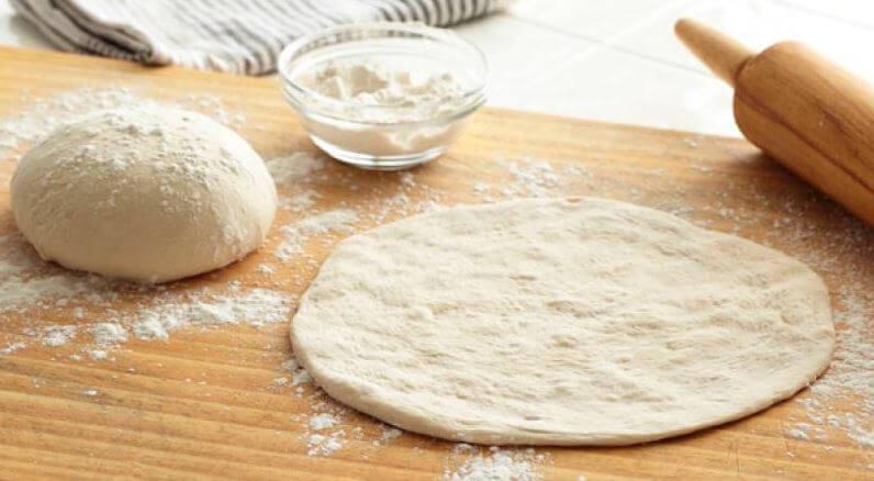 bake pizza dough