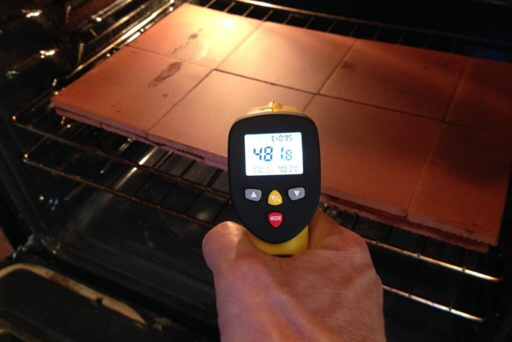 measuring oven pizza oven temperature