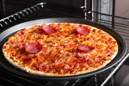 pizza in electric oven