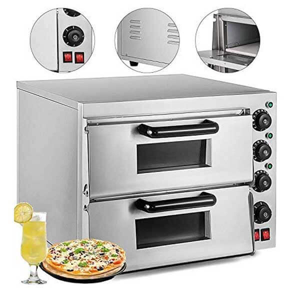 VEVOR Commercial Pizza Oven Stainless Steel Pizza Oven