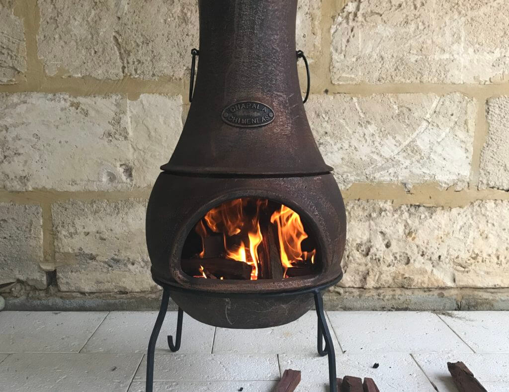 how to cook on a chiminea