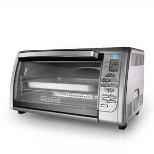 BLACK+DECKER CTO6335S Countertop Convection Toaster Oven for Frozen Pizza