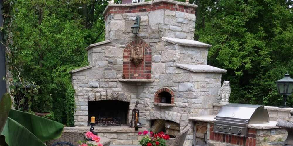 Outdoor Fireplace Pizza Oven Design