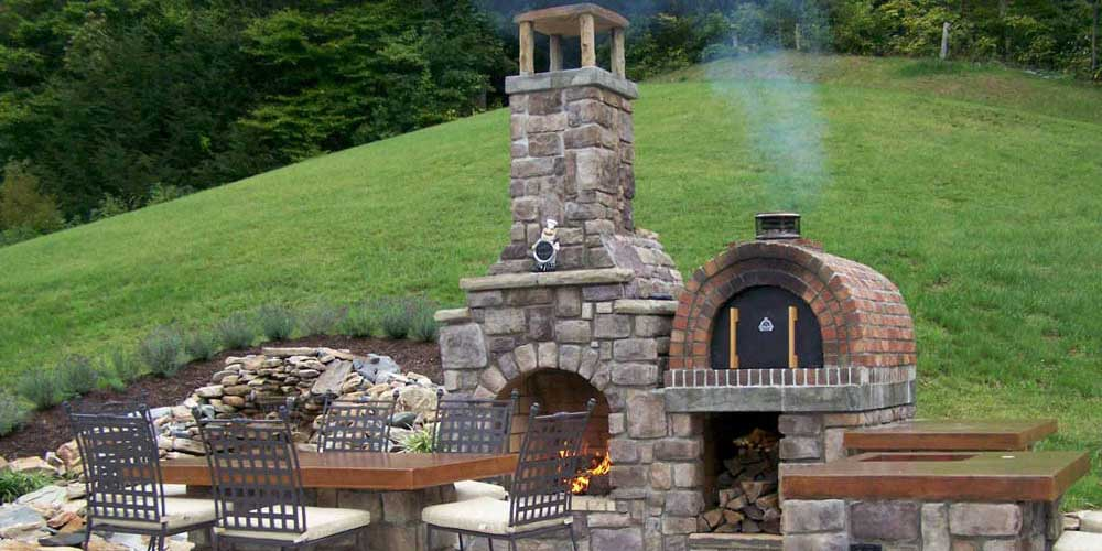 Outdoor Pizza Oven Fireplace Combo Patio