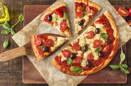 Triangle cut pizza