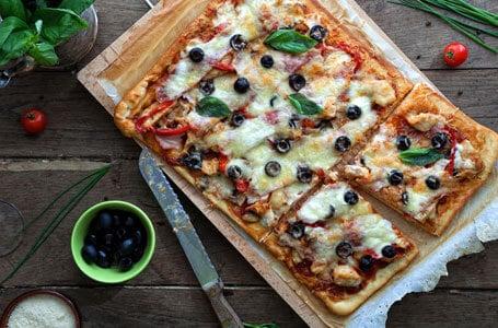 square cut pizza